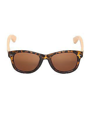 Flying Machine Brown Square Tortoiseshell Frame Sunglasses