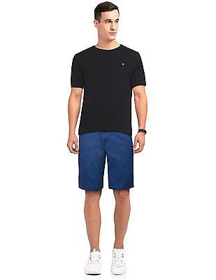 Ruggers Black Slim Fit Solid T-Shirt