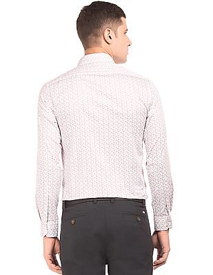 Arrow Slim Fit Floral Print Shirt