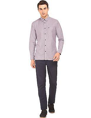 Arrow Sports Slim Fit Button-Down Shirt