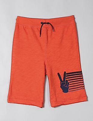 GAP Orange Boys Pull On Shorts In Jersey