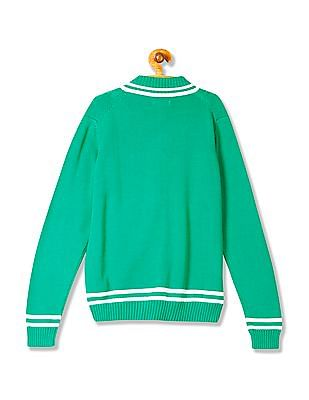 U.S. Polo Assn. Kids Boys Long Sleeve Cable Knit Sweater