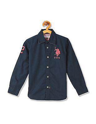 U.S. Polo Assn. Kids Boys Standard Fit Solid Shirt