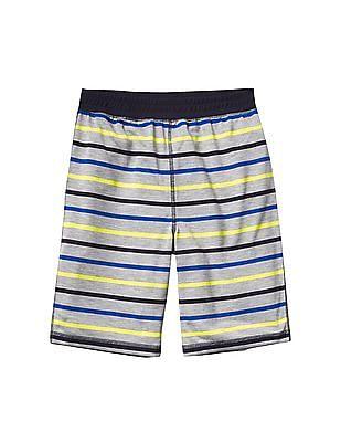 GAP Boys Grey Stripe PJ Shorts