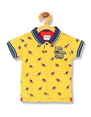 Donuts Boys Printed Pique Polo Shirt