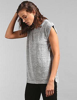 GAP Women Grey Solid Crew Neck t-Shirt