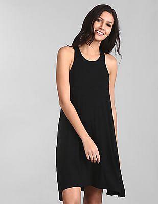 GAP Women Black Softspun Knit Racerback Dress