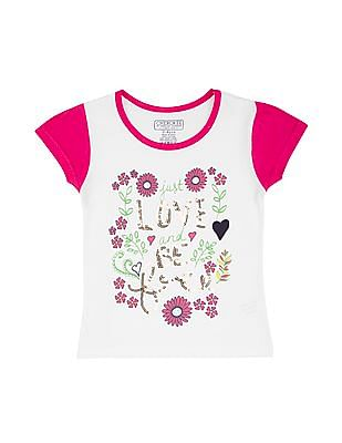 Cherokee Girls Sequin Cotton T-Shirt