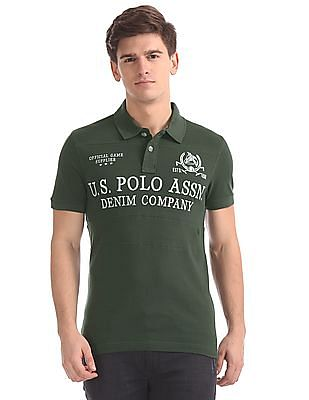 U.S. Polo Assn. Denim Co. Muscle Fit Cut And Sew Panel Polo Shirt