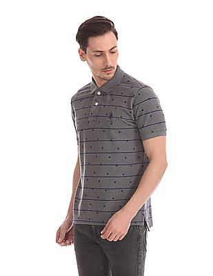 U.S. Polo Assn. Short Sleeve Horizontal Stripe Polo Shirt