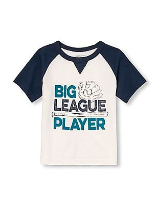 The Children's Place Toddler Boy Short Raglan Sleeve Sports Graphic Tee
