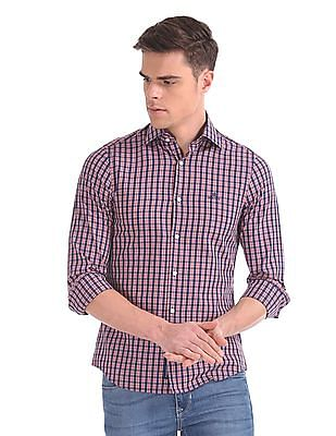 Gant Tech Prep Indigo Check Slim Point Shirt