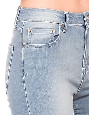 Aeropostale Low Rise Stone Wash Jeans