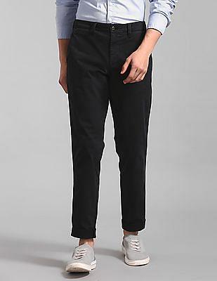 GAP Black Vintage Wash Khakis In Slim Fit With GapFlex