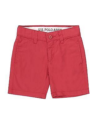 U.S. Polo Assn. Kids Boys Solid Regular Fit Shorts