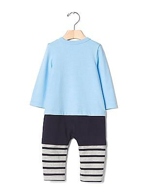 GAP Baby Blue Naps 3-in-1 Layer One-Piece Romper