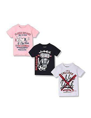 Cherokee Boys Cotton T-Shirt - Pack Of 3