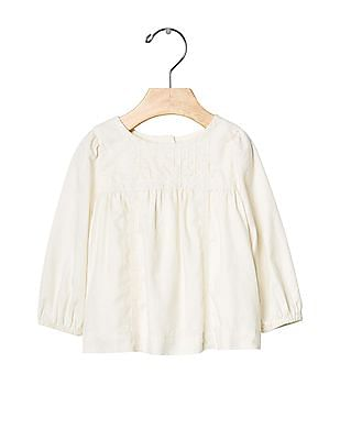 GAP Baby White Lace Trim Top