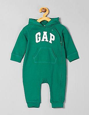 GAP Baby Hooded Logo Bodysuit