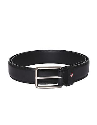 U.S. Polo Assn. Metallic Buckle Leather Belt