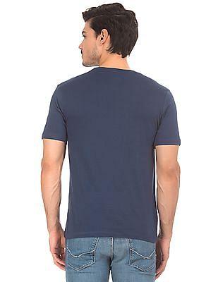 Colt Contrast Print Round Neck T-Shirt
