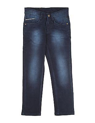 FM Boys Boys Slim Fit Crinkled Jeans