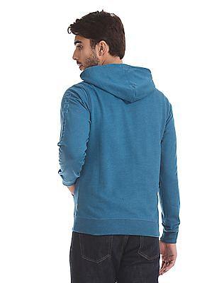 Flying Machine Tonal Print Hooded Sweatshirt