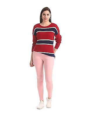 U.S. Polo Assn. Women Pink Slim Fit Solid Jeggings