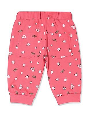 Cherokee Girls Floral Print Knit Joggers