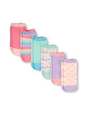 The Children's Place Toddler Girl Assorted Multicolour Midi Socks 6-Pack