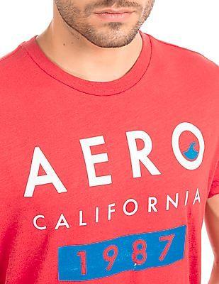 Aeropostale Printed Front Cotton T-Shirt