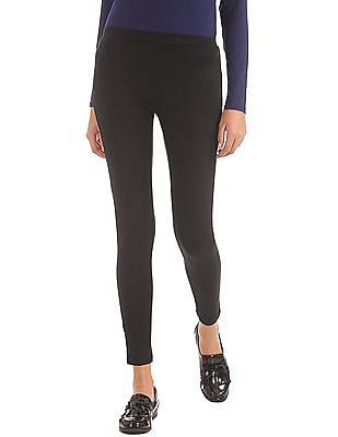 Elle Solid Stretch Leggings