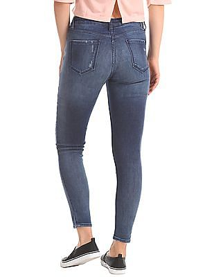 EdHardy Women Super Skinny Fit Mid Rise Jeans