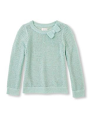 The Children's Place Girls Lurex Bow Knit Sweater