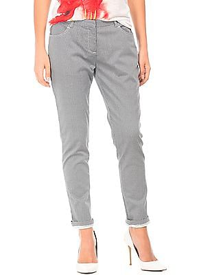 Cherokee Mid Rise Printed Trousers