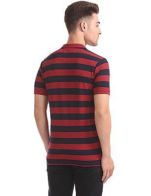 Flying Machine Slim Fit Striped Polo Shirt