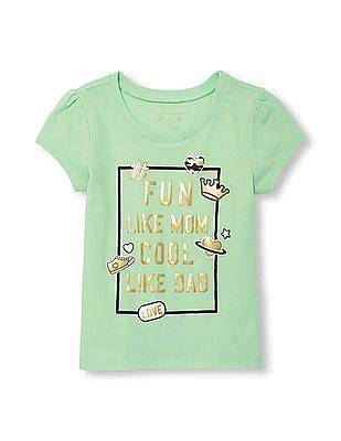 The Children's Place Baby Girl Glitter Print T-Shirt