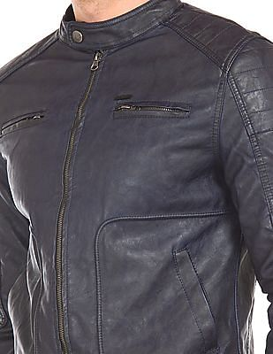 Flying Machine Panelled Biker Jacket