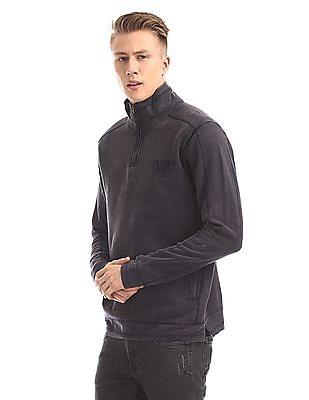 Cherokee High Neck Zip Up Sweatshirt