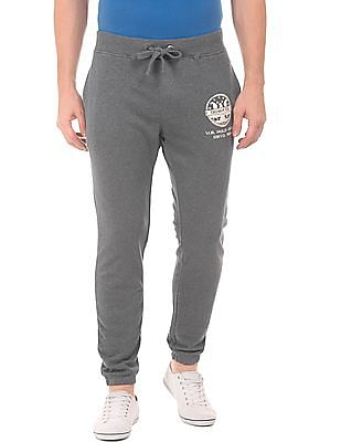 U.S. Polo Assn. Denim Co. Heathered Drawstring Waist Joggers