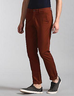 GAP Red Modern Khakis In Slim Fit With GapFlex