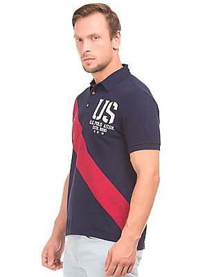 U.S. Polo Assn. Denim Co. Printed Pique Polo Shirt