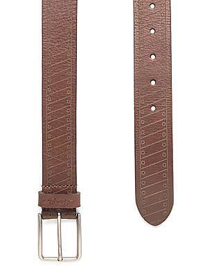 Ed Hardy Patterned Leather Belt