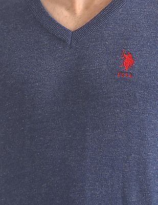 U.S. Polo Assn. V-Neck Long Sleeve Sweater