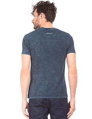 Ed Hardy Washed Stud Embellished T-Shirt
