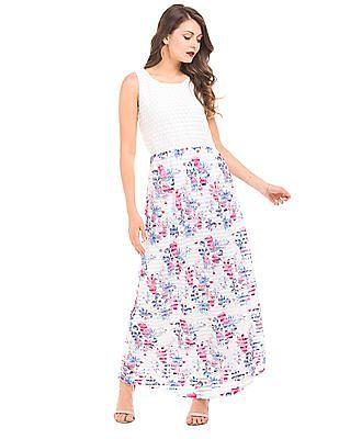 Elle Floral Print Maxi Dress