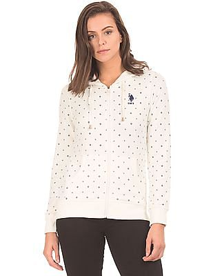 U.S. Polo Assn. Women Hooded Zip Up Sweatshirt