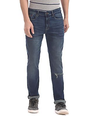 Aeropostale Skinny Fit Distressed Jeans