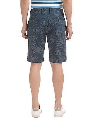 U.S. Polo Assn. Tropical Print Cotton Stretch Shorts