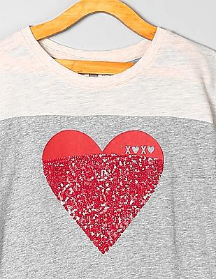 GAP Girls Short Sleeve Sequinned T-Shirt